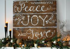 christmas mantel decorating ideas rustic style board