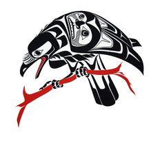 "Reminds me of the Due South episode 'The Mask' ""Raven-Prints - Glen Rabena, Northwest Coast Native Artist"" Arte Tribal, Tribal Art, Haida Kunst, Haida Art, Arte Inuit, Inuit Art, Tatouage Haida, Haida Tattoo, Native American Symbols"