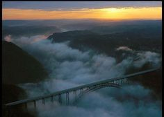 Sunrise at Gauley Bridge