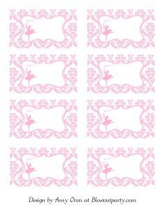 Ballerina Party Free Printable Nametags | Scribd