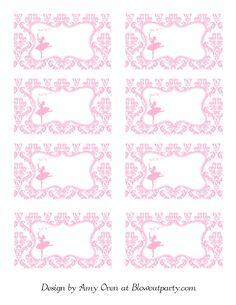 Ballerina Party Free Printable Nametags | Scribd