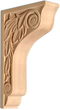 """10-7/8""""h X 2-1/8""""w X 6-11/16""""d - Medium Maple Bracket by InvitingHome. $68.00. La Strada Medium Maple Bracket 10-7/8 H x 2-1/8 W, depth 6-11/16  hand carved and triple sanded. Save 20%!"""