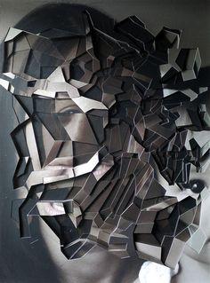 cut-out portraits by Lucas Simoes