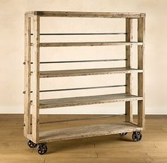 Love this for the boys rooms as bookshelves!  our vintage home love: Salvaged Wood Shelving