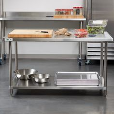 Regency 30 inch x 60 inch 304 Stainless Steel Commercial Work Table with Undershelf Stainless Kitchen, Stainless Steel Work Table, Kitchen Design Small, Modern Kitchen Cabinets, Rustic Kitchen Design, Stainless Steel Kitchen Table, Steel Kitchen, Small Kitchen, Retro Kitchen
