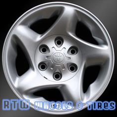 """Toyota wheels for sale Tacoma Tundra 00-04. 16"""" Sparkle Silver rims 69395 - http://www.rtwwheels.com/store/shop/toyota-wheels-for-sale-sequoia-tacoma-sparkle-silver-69395/"""