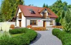 Projekt domu - Dom przy Alabastrowej 20 115.00m² | GALERIADOMOW.PL House Plans, Mansions, House Styles, Home Decor, Decoration Home, Manor Houses, Room Decor, Villas, Mansion