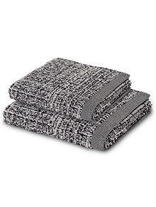 Tweed towel range in Black
