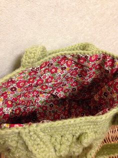 ハンドメイド:ハプコーン編みがポイントのバック♪