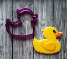 Rubber Ducky youre the one! This cutter comes in several sizes, so select the best size for your project. Duck cookie is from Laura at The Cookie Lady. Be sure to follow her on Facebook! OUR CUTTERS: We print our cutters on a 3D printer, using a high quality food safe PLA. The