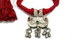 Red Tribal Vintage Necklace by New Maharaja Gem Palace on Etsy