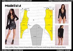 ModelistA: A3 NUM 0341 BODY Diy Clothing, Sewing Clothes, Dress Sewing Patterns, Clothing Patterns, Diy Tops, Modelista, Diy Fashion, Fashion Design, How To Make Clothes