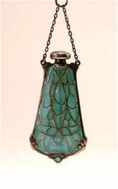 1910s Art Nouveau Plique A Jure Perfume Bottle