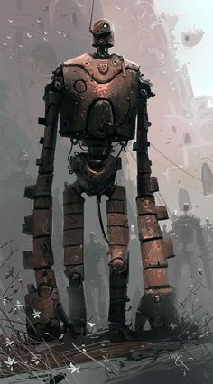 miyazaki-ru on The robot of Laputa, preserved in the life of the castle in the sky (deep sentence I just created XD ) Robots Steampunk, Steampunk Gadgets, Steampunk Animals, Steampunk Diy, Arte Robot, Robot Art, Robots Robots, Castle In The Sky, Matt Dixon