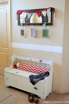 Home Decor- Entry Way Storage & Organization - Craft-O-Maniac