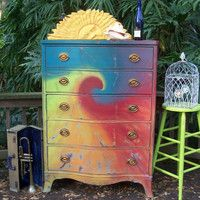 Tie Dye Dresser  Seriously want   this!!