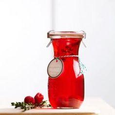 Raspberry-thyme vinegar from EatingWell Magazine, Nov/Dec 2012
