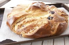 Stollen-Cherry Cream Cheese Roll Pastry