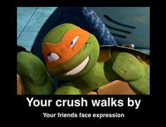 When Donnie's Crush Walks By... by *craZkid on deviantART