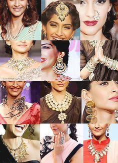 Sonam Kapoor's in different style jewelry