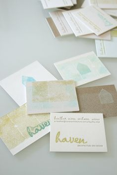 Haven Business card design via Stitch Design Co | hello, friend