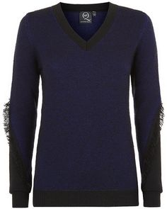 McQ by Alexander McQueen Fringe Tweed Sweater