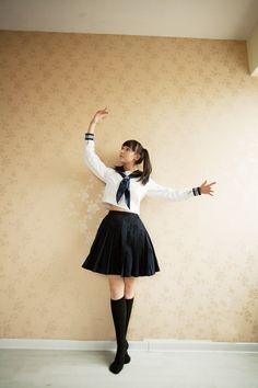 Cosplay school wear , school uniform fashion preppystyle , class service japanese school uniform style