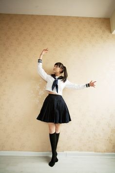 Cosplay school wear , school uniform fashion preppystyle , class service japanese school uniform style