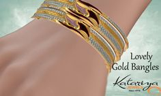 Fascinating Gold Bangle in 22Kt  Buy Now :http://buff.ly/1nkFLNq COD Option Available With Free Shipping In India