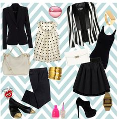 """""""Just B & W"""" by silvanacasalins81 on Polyvore"""