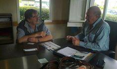 El director de Producción de Baradero se reunió con Ariel Santalla