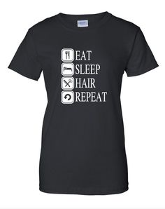 Black Cosmetology T Shirt Cosmetologist Hair Stylist Salon Apparel Beauty Women #Gildan #GraphicTee