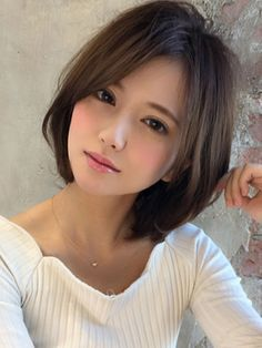 20 chinesische Bob Frisuren 20 Chinese Bob Hairstyles In Europe, long hair has always been a symbol Chinese Bob Hairstyles, Cute Hairstyles, Medium Hair Styles, Short Hair Styles, Cute Asian Girls, Beautiful Asian Women, Pretty Face, Beauty Women, Beauty Girls