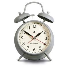 Discover the Newgate Clocks The New Covent Garden Alarm Clock - Overcoat Grey at Amara