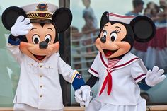 Mickey and Minnie Mouse sailors
