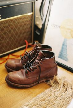 Red Wing Beckman Boots & Vox Amplifier