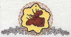 Moose in dream catcher | Applique Machine Embroidery Design or Pattern