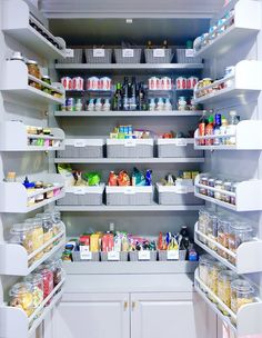 Try some of these ingenious solutions for creating just a little more space from an absurdly small — or even just a normal — pantry.