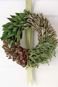 Wreath Made of Edible Herbs
