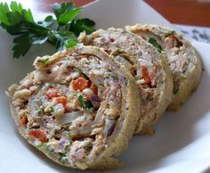 Rolada jajeczna z makrelą ... dietetyczny i łatwy posiłek