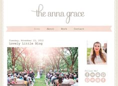 The Anna Grace Template - Luvly Marketplace Blog Design Inspiration, Design Blog, Web Design, Wordpress Template, Wordpress Theme, Anna Grace, Blog Layout, Simple Colors, Blogger Templates