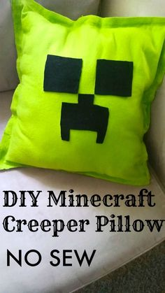 DIY Minecraft Creeper Pillow NO SEW Tutorial