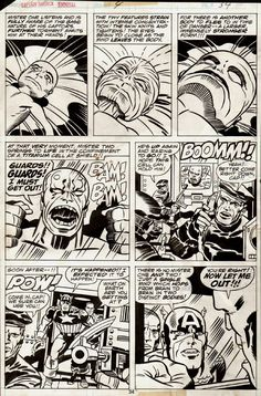 Captain America Annual #4 p 34 (1977) Comic Art For Sale By Artist Jack Kirby at Romitaman.com