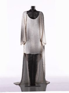 salmon leather dress