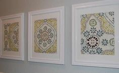 framed fabric with monogram