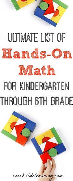 math activities preschool, elementary school, middle school, STEM, homeschool