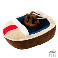 Martha Stewart Pets® Boat Pet Bed | Beds | PetSmart I saw this and I so wanted one for Harley love it