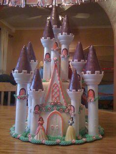 Cool Disney Princess Castle Cake Disney Birthday cakes and The