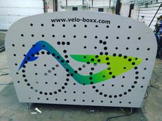 Custom Velo-Boxx for #Flandersbikevalley inauguration on 1st April - no joke... #Veloboxx #bikestorage #bikemobility #fiets #velo #bicycle #bicicletta #bicicleta #fahrrad #custom #beautiful #urbanart #art
