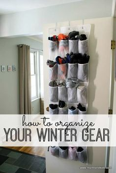 Never lose another mitten again! Awesome tips for organizing your winter gear - and keep it organized!